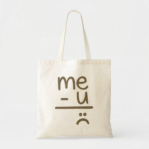 Me Minus You Equals Sad Face Smiley Tote Bag