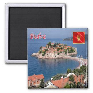 ME - Montenegro - Budva - Sveti Stefan Square Magnet