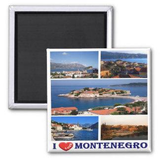 ME - Montenegro - I Love - Collage Mosaic Square Magnet