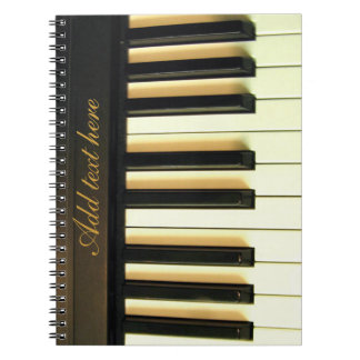 Me & my piano_ spiral notebook