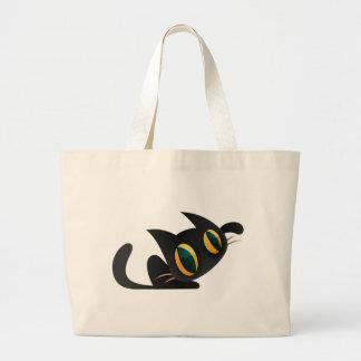 Me of black cat jumbo tote bag