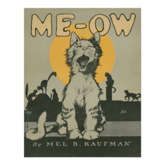 Me-ow Poster