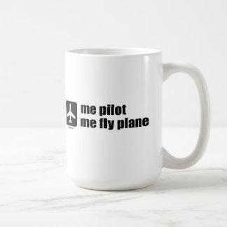 me pilot me fly plane coffee mug