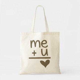 Me Plus You Equals Love Canvas Tote Bag