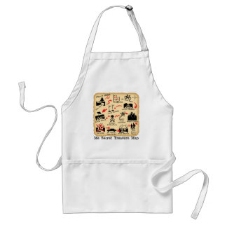 ME SECRET TREASURE MAP ADULT APRON