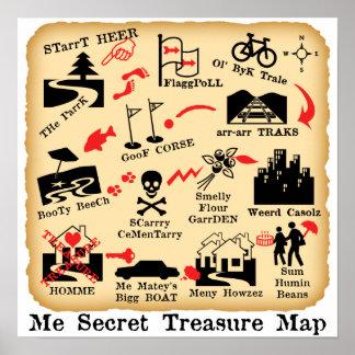 ME SECRET TREASURE MAP PRINT