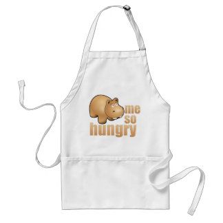 me so hungry funny hippo apron