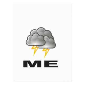 me thunder postcard