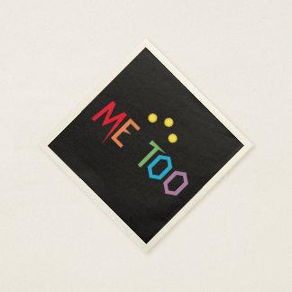 Me Too Rainbow Resist Paper Napkins Disposable Serviette