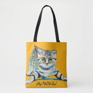 Me-WoW-Za! Kitty Tote bag