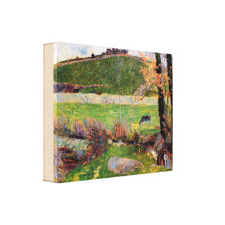 Meadow at the Banks of Aven by Paul Gauguin Canvas Print
