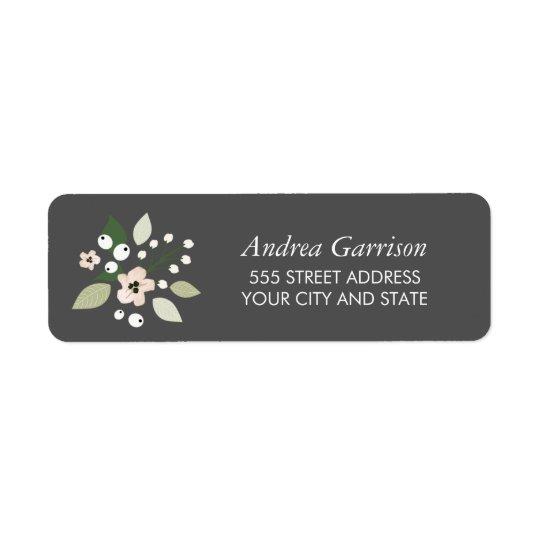 Meadow Blooms Return Address Label