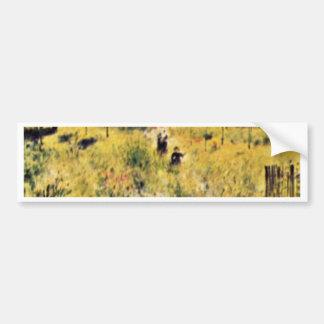 Meadow By Pierre-Auguste Renoir (Best Quality) Bumper Sticker