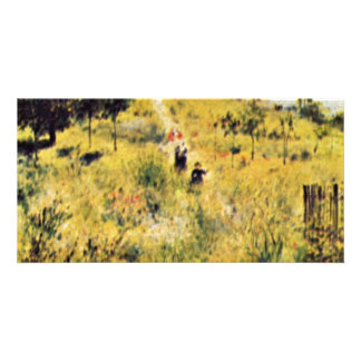 Meadow By Pierre-Auguste Renoir (Best Quality) Photo Card Template