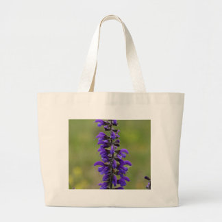 Meadow clary or meadow sage large tote bag