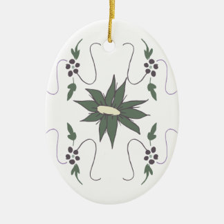 Meadow flower ceramic ornament