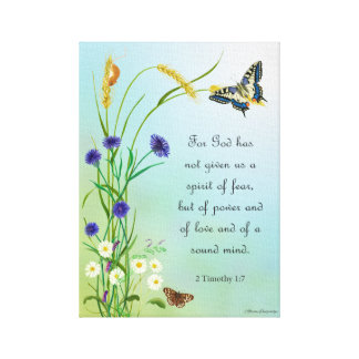 Meadow Flowers Watercolor Butterfly 2 Timothy Canvas Print