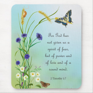 Meadow Flowers Watercolor Butterfly 2 Timothy Mouse Pad