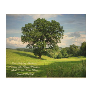 Meadow Haiku Wood Wall Decor