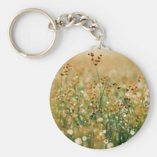 Meadow Morning Dew Basic Round Button Key Ring