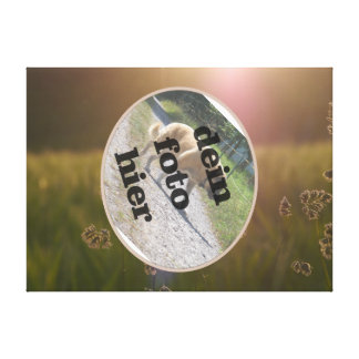 meadow on canvas with oval cut out gallery wrap canvas