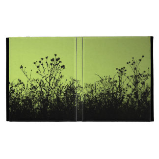 Meadow silhouettes (green) iPad cases