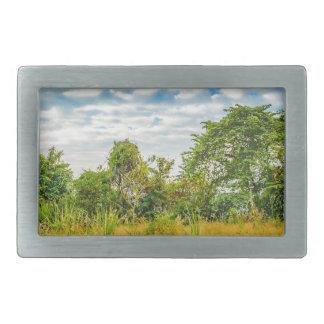 Meadow Tropical Landscape Scene, Guayaquil Belt Buckles