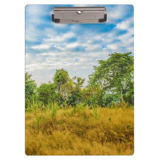Meadow Tropical Landscape Scene, Guayaquil Clipboard