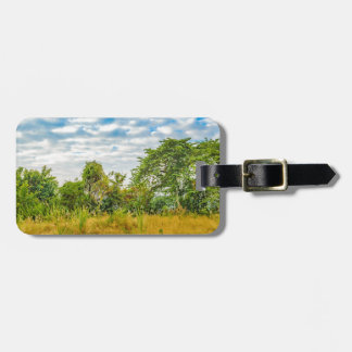 Meadow Tropical Landscape Scene, Guayaquil Luggage Tag