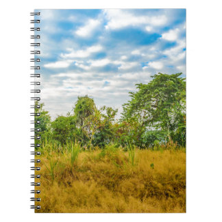 Meadow Tropical Landscape Scene, Guayaquil Notebook