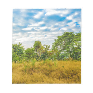 Meadow Tropical Landscape Scene, Guayaquil Notepad