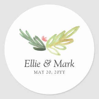 Meadow Wedding Classic Round Sticker