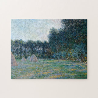 Meadow with Haystacks near Giverny Monet Fine Art Jigsaw Puzzle