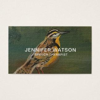 Meadowlark Bird business card