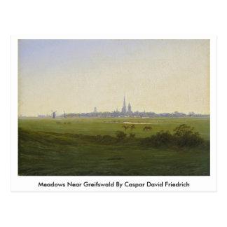 Meadows Near Greifswald By Caspar David Friedrich Postcard