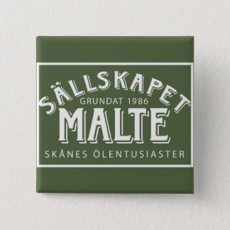 Meagre with logo type 15 cm square badge