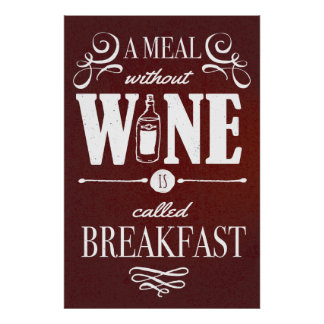 Meal without Wine Poster