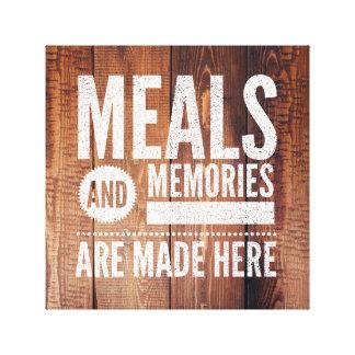 "Meals & Memories 12"" x 12"", 1.5"", Single Canvas Print"