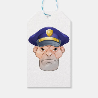 Mean Angry Cartoon Policeman Gift Tags