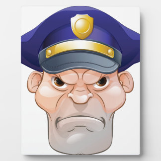 Mean Angry Cartoon Policeman Plaque