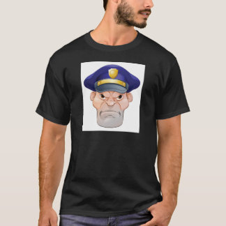 Mean Angry Cartoon Policeman T-Shirt