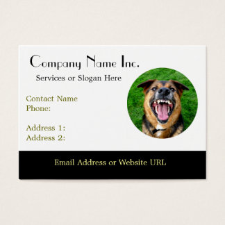 Mean Dog Bares Teeth Business Card