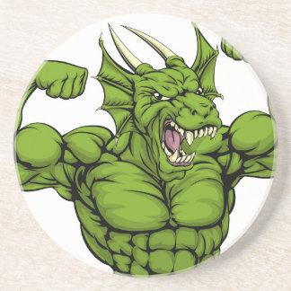 Mean Dragon Mascot Coasters