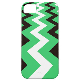Mean Green and White Fast Lane Chevrons Case For The iPhone 5
