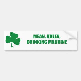 MEAN, GREEN, DRINKING MACHINE BUMPER STICKERS