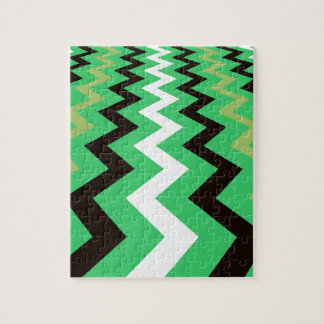 Mean Green Fast Lane Chevrons Puzzle