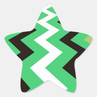 Mean Green Fast Lane Chevrons Star Sticker