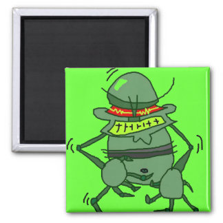 MEAN GREEN SQUARE MAGNET