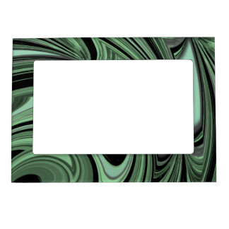 Mean Green Pattern Magnetic Picture Frame
