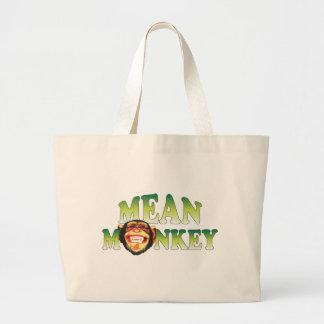 Mean Monkey Jumbo Tote Bag